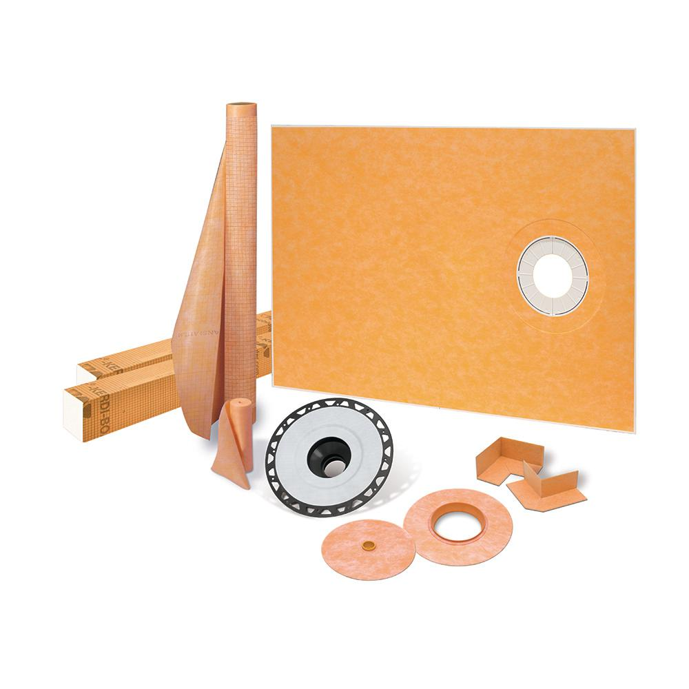 Kerdi-Shower-Kit 38 in. x 60 in. Off-Center Shower Kit with ABS