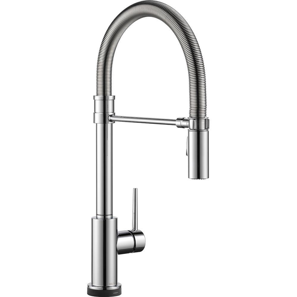 Attractive Delta Trinsic Pro Single Handle Pull Down Sprayer Kitchen Faucet With  Touch2O Technology And Spring Spout In Arctic Stainless 9659T AR DST   The  Home Depot