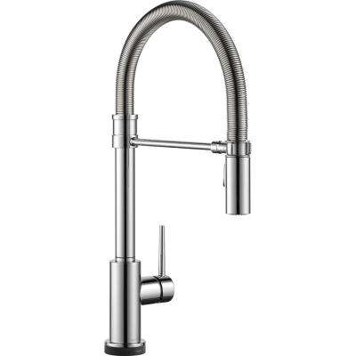 Trinsic Pro Single-Handle Pull-Down Sprayer Kitchen Faucet with Touch2O Technology and Spring Spout in Chrome