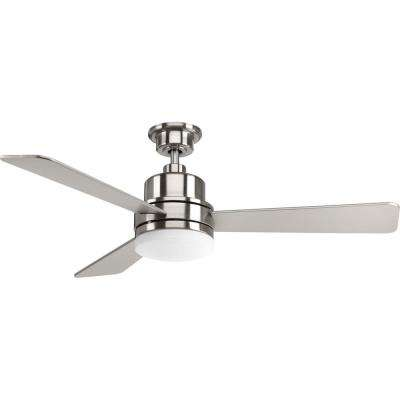 Trevina Collection 52 in. LED Brushed Nickel Ceiling Fan