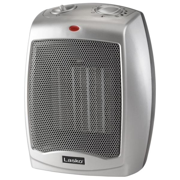 Compact 9.2 in. 1500-Watt Electric Ceramic Space Heater with Automatic Overheat Protection