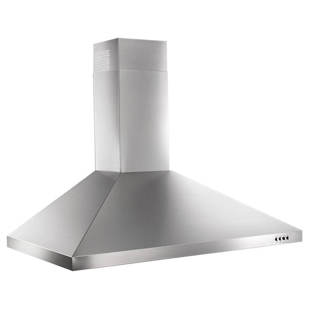 Whirlpool 36 in. Contemporary Wall Mount Range Hood in Stainless Steel  sc 1 st  The Home Depot & Whirlpool 36 in. Contemporary Wall Mount Range Hood in Stainless ...