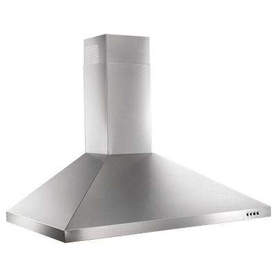 36 in. Contemporary Wall Mount Range Hood in Stainless Steel