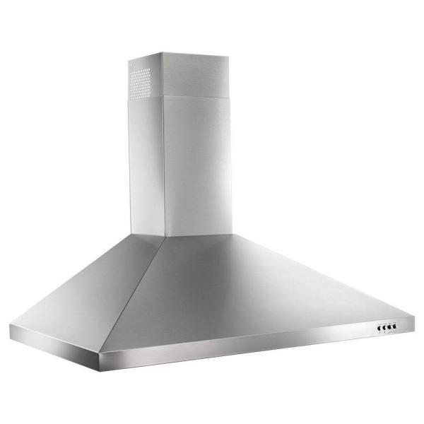 Whirlpool 36 in. Contemporary Wall Mount Range Hood in Stainless Steel