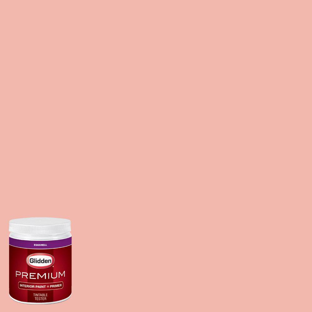 Glidden Premium 8 Oz Hdgr61 Coral Flower Eggshell Interior Paint Sample With Primer Hdgr61p