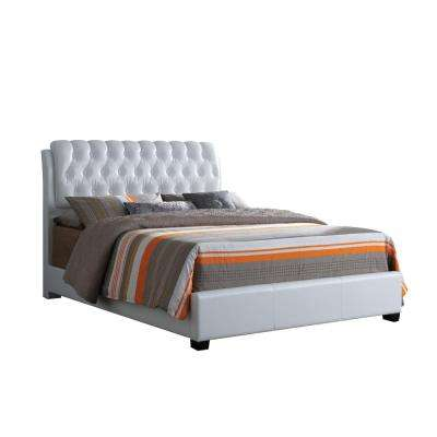 Ireland White Eastern King Upholstered Bed