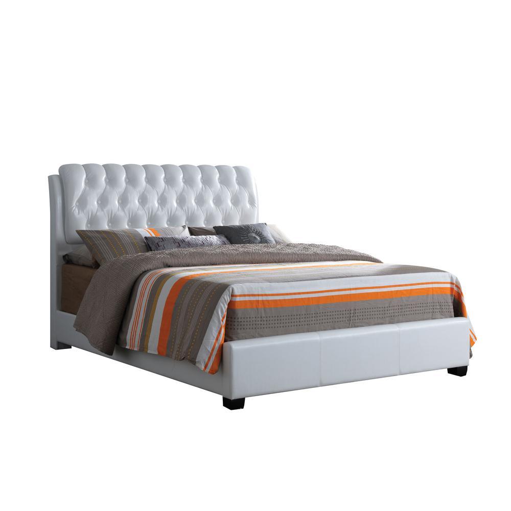 73b43204fd00 ACME Furniture Ireland White Eastern King Upholstered Bed 25347EK ...