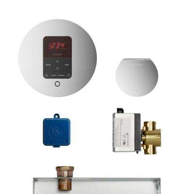 MS Butler Package with iTempo Pro Round Programmable Control for Steam Bath Generator in Polished Chrome