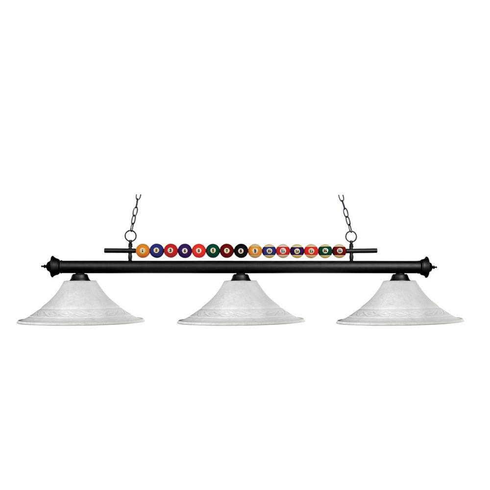Filament Design Lawrence 3-Light Matte Black Incandescent