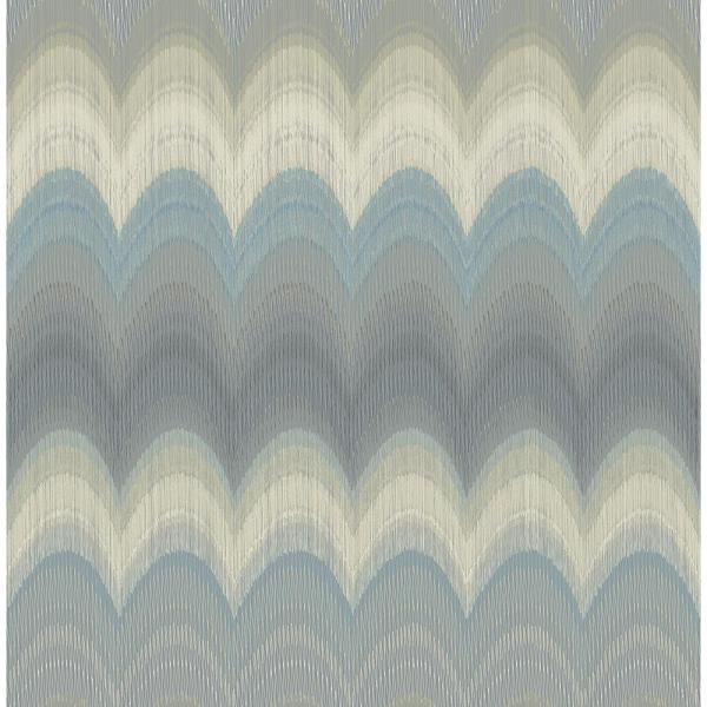 Kenneth James August Slate Wave Wallpaper 2671-22405