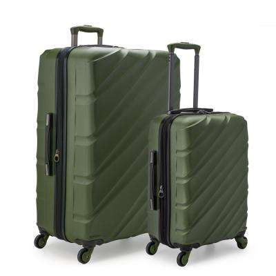 e697448032fc Gilmore 2-Piece Olive GreenExpandable Hardside 4-Wheel Spinner Luggage ...