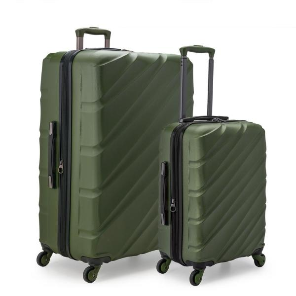 U.S. Traveler Gilmore 2-Piece Olive GreenExpandable Hardside 4-Wheel Spinner