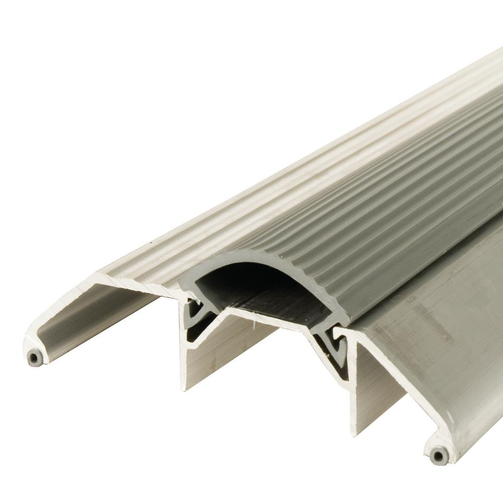Satin Nickel Finish M-D Building Products 49004 3-3//4 by 3//4 by 36-Inch Deluxe Low Threshold with Vinyl Seal