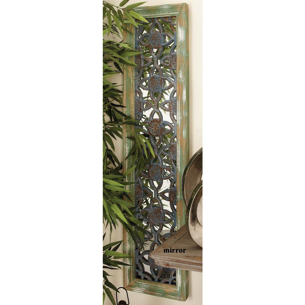 12 in. x 50 in. Rustic Elegance Cut-Out Trellis Wood Wall