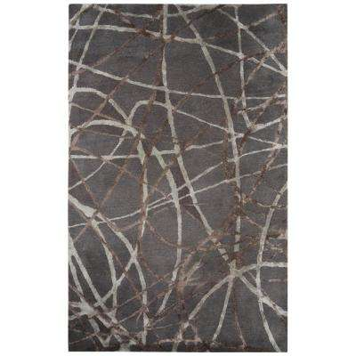Hand-Tufted Steel Gray 8 ft. x 10 ft. Abstract Area Rug