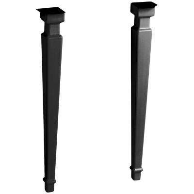 Kathryn Square Fireclay Console Legs in Black Black