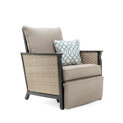 Colton Recliner Wicker Outdoor with Sunbrella Cast Shale Cushion