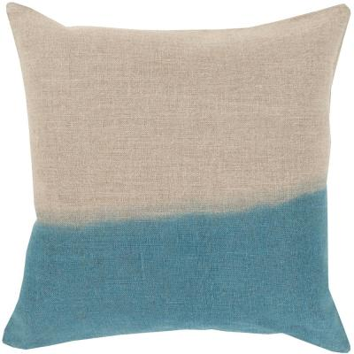 Roxbury Teal Striped Polyester 18 in. x 18 in. Throw Pillow