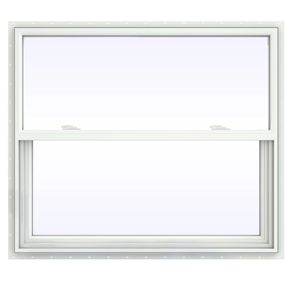 JELD-WEN 41.5 in. x 35.5 in. V-2500 Series Single Hung Vinyl Window - White
