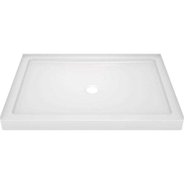 Classic 400 34 in. x 48 in. Single Threshold Alcove Shower Base in High Gloss White