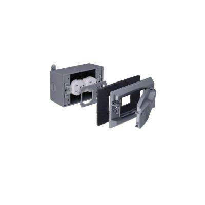 Duplex Weatherproof Flat Cover - Silver (Case of 4)