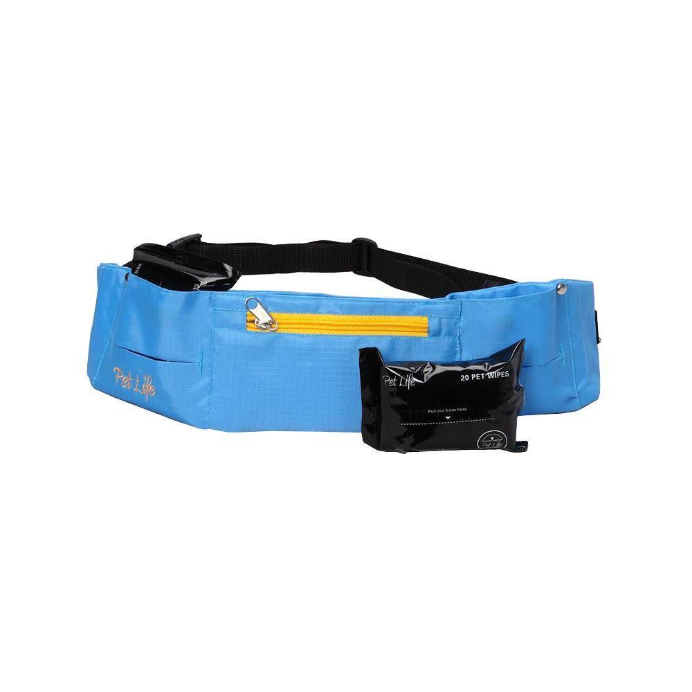 PET LIFE Appalachian Dog Walking Pet Belt in Blue