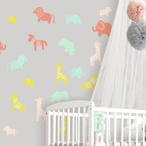 RoomMates 5 in. x 11.5 in. Animal Silhouette 36-Piece Peel and