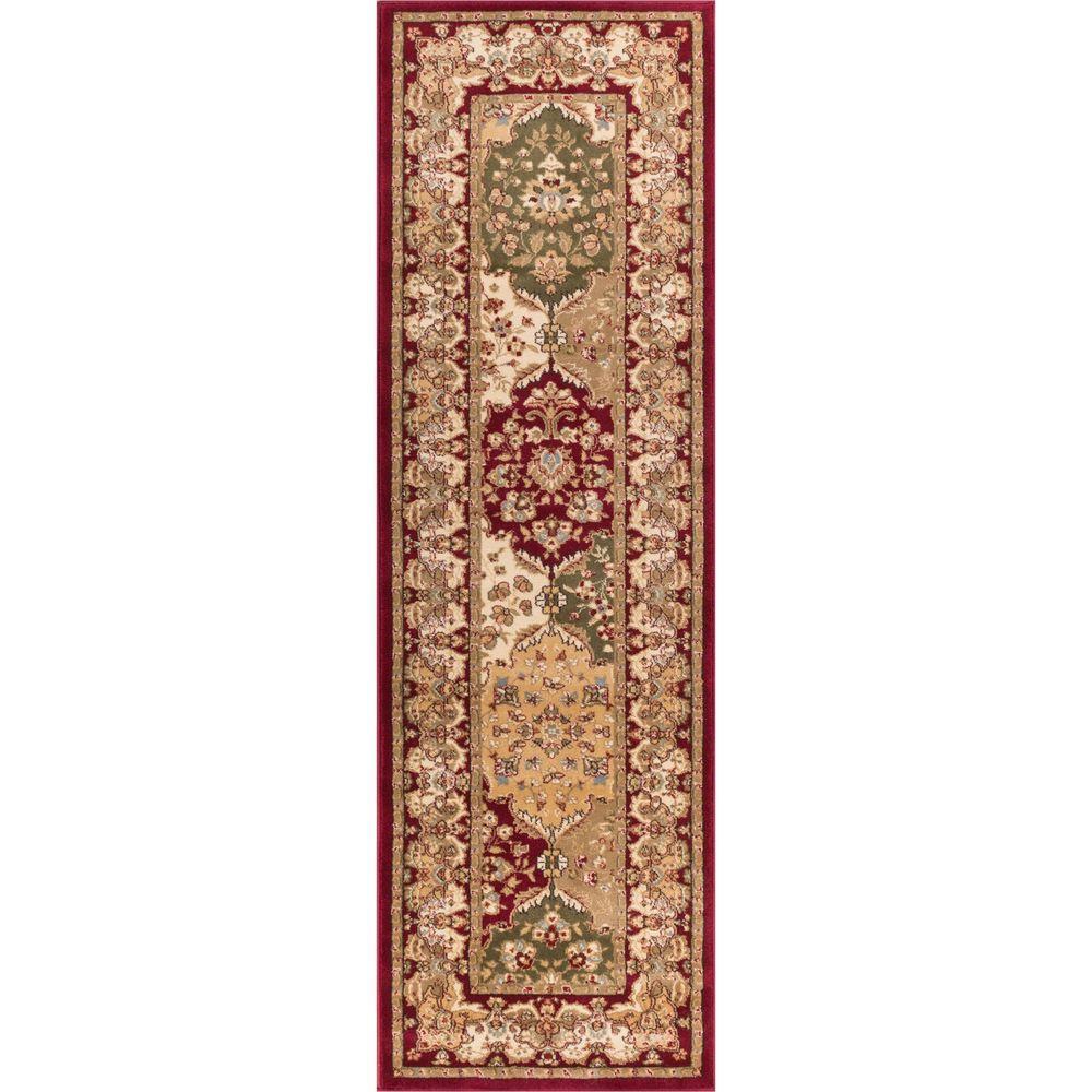 Timeless Mina-Khani Red 2 ft. x 7 ft. Traditional Runner Rug