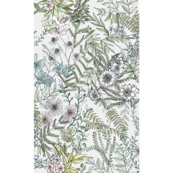 A-Street 8 in. x 10 in. Full Bloom Off-White Floral Wallpaper