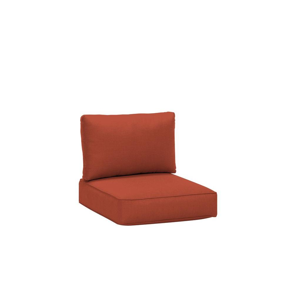 Northshore Patio Middle Armless Sectional Replacement Cushions in Cinnabar