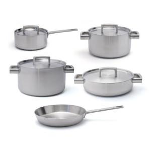 BergHOFF Ron 9-Piece 5-Ply Stainless Steel Cookware Set with Lids by BergHOFF