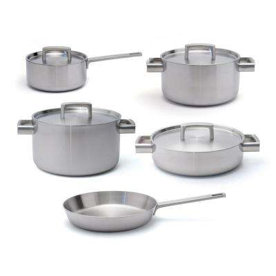 Ron 9-Piece 5-Ply Stainless Steel Cookware Set with Lids