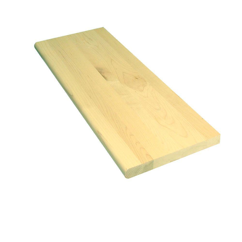 Stairtek 1 in x 11.5 in. x 42 in. Prefinished Natural Maple Tread