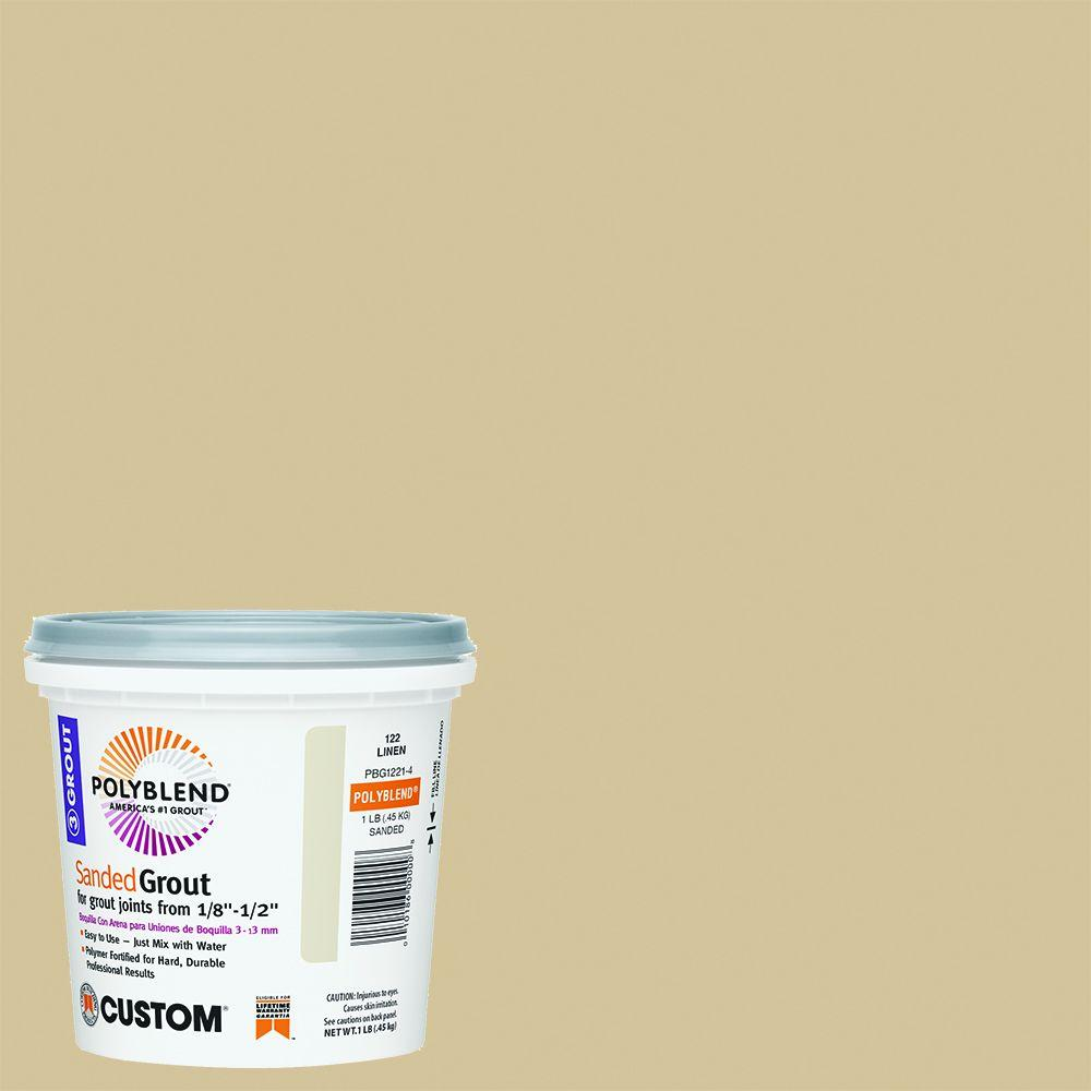 Custom Building Products Polyblend #122 Linen 1 lb. Sanded Grout