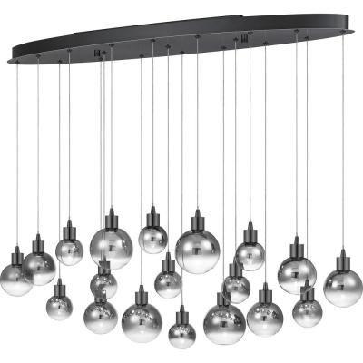 Shadow Integrated LED Black Chrome Chandelier
