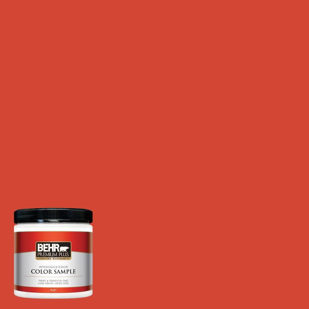 BEHR Premium Plus 8 oz. #S-G-190 Red Hot Interior/Exterior Paint Sample