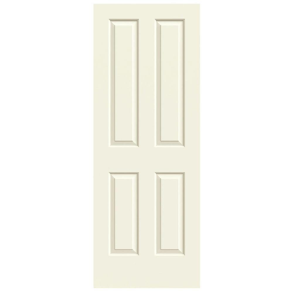 JELD-WEN 28 in. x 80 in. Coventry Vanilla Painted Smooth Molded Composite MDF Interior Door Slab