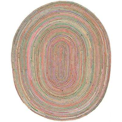 Cape Cod Natural Multi 9 Ft X 12 Oval Area Rug