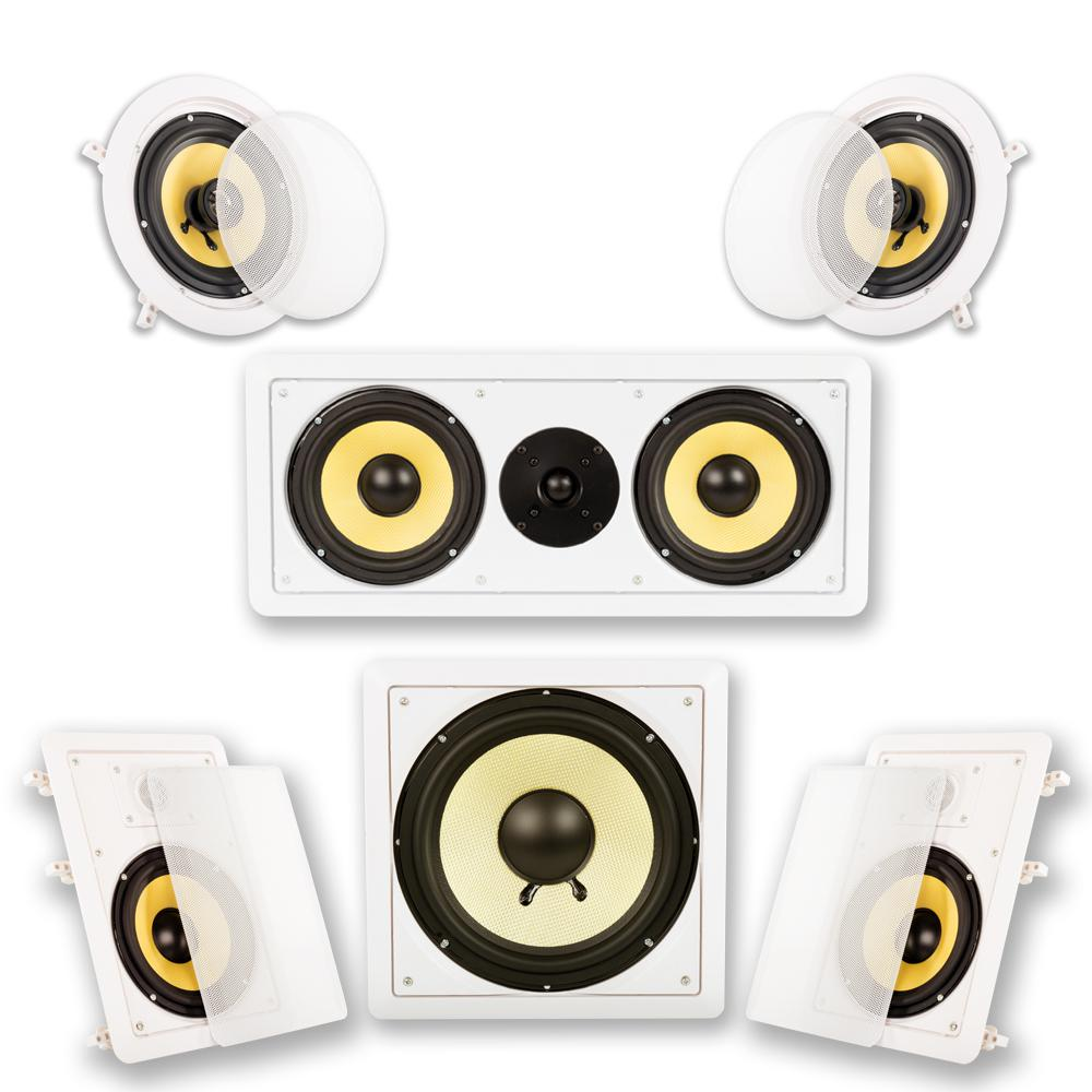In-Wall/Ceiling Home Theater Surround 5.1 Speaker System In-Wall/Ceiling Home Theater Surround 5.1 Speaker System