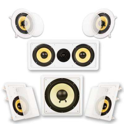 In-Wall/Ceiling Home Theater Surround 5.1 Speaker System