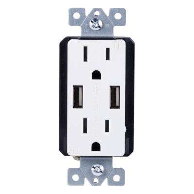 white usb port ge wiring devices light controls electrical rh homedepot com  ge wiring devices dept