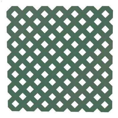 0.2 in. x 48 in. x 8 ft. Woodland Green Privacy Plastic Lattice