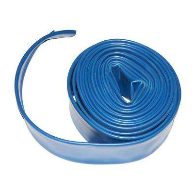 1.5 in. x 50 ft. Flat Backwash Hose with Clamp