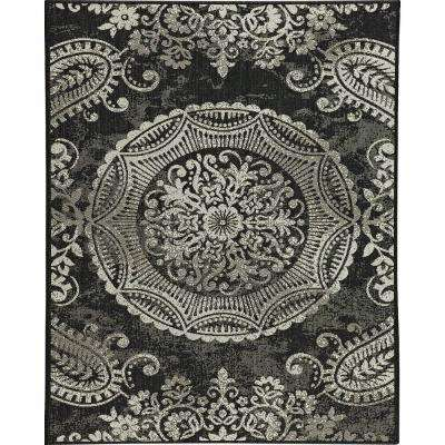 Georgiana Black 8 ft. x 10 ft. Indoor/Outdoor Area Rug