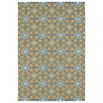 Habitat Brown 4 ft. x 6 ft. Indoor/Outdoor Area Rug