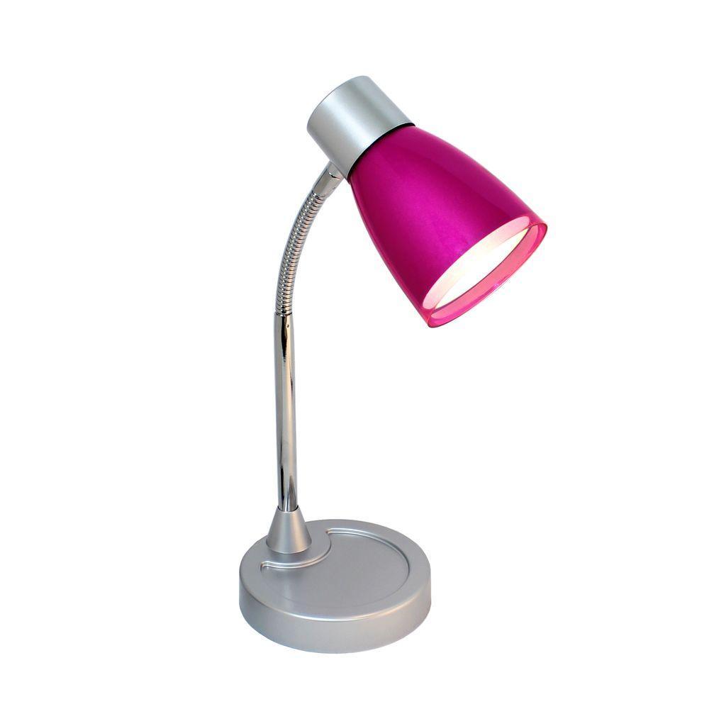Metallic Pink Flexible Gooseneck 3w Led Desk Lamp