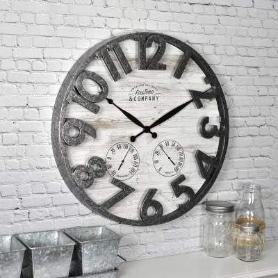 18 in. Shiplap Outdoor Wall Clock