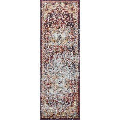 Augustus Turin Rust Red 2' 2 x 6' 7 Runner Rug