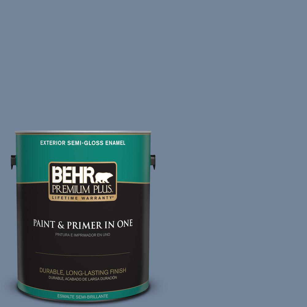 BEHR Premium Plus 1-gal. #580F-5 Mysteria Semi-Gloss Enamel Exterior Paint