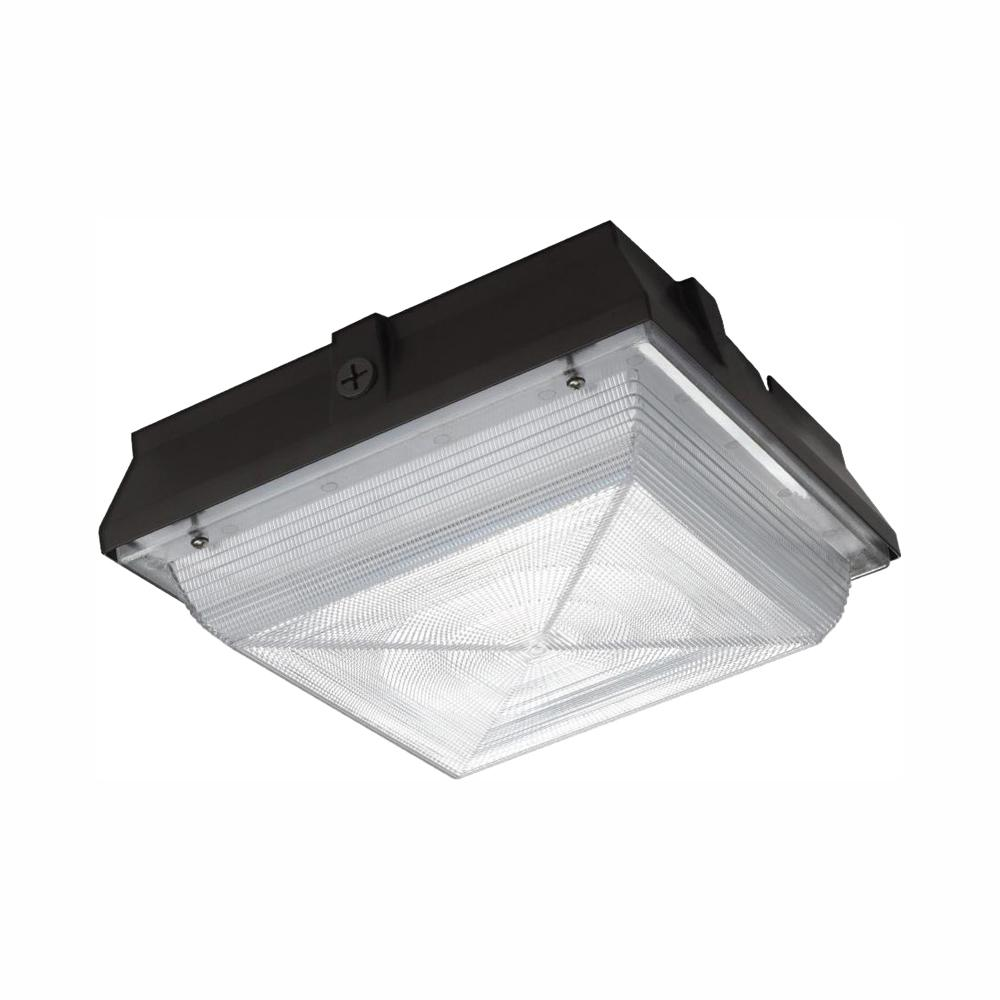 Commercial Electric Large 50 Watt Integrated Led Canopy And Area Light 5200 Lumens Outdoor Security Lighting